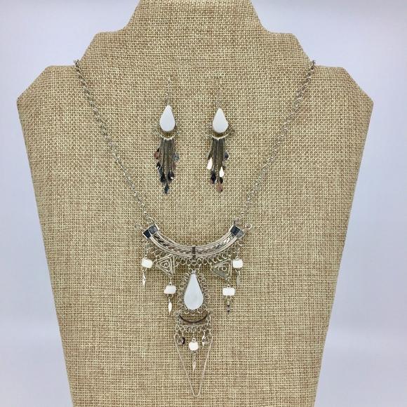 Jewelry - Peruvian Alpaca Silver White Onyx Necklace Set